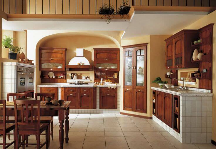 Traditional wood kitchen